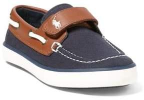 Ralph Lauren Sander Ez Boat Shoe Navy/Tan 10.5