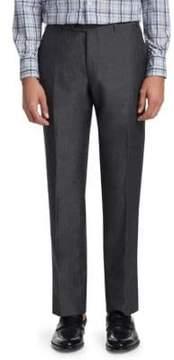 Corneliani Wool Linen Pintuck Trousers