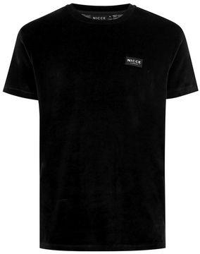 Nicce Black Velour T-Shirt