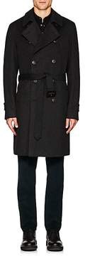 Barneys New York Men's Wool Double-Breasted Topcoat