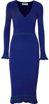 Altuzarra Isolde Ribbed-knit Midi Dress - Blue