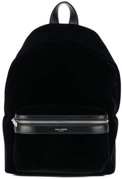 Saint Laurent logo backpack - BLACK - STYLE