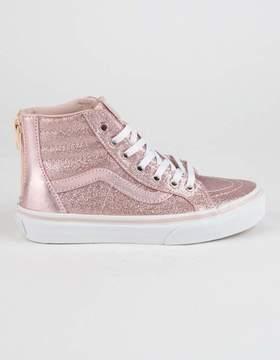 Vans Glitter Metallic Sk8-Hi Zip Girls Shoes