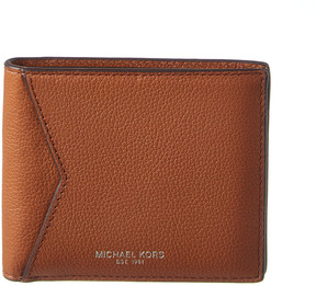 MICHAEL Michael Kors Bryant Cavallo Leather Bifold Wallet - BROWN - STYLE