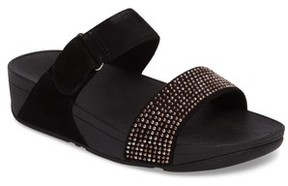 FitFlop Women's Lulu Popstud Wedge Slide Sandal
