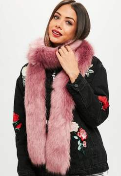 Missguided Pink Faux Fur Stole