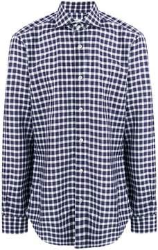 Barba checked print longsleeved shirt