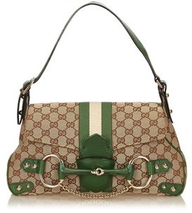 Gucci Pre-owned: Horsebit Shoulder Bag. - BROWN X BEIGE X MULTI - STYLE