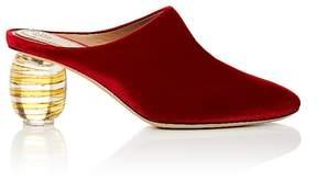 The Row Women's Acrylic-Glass-Heel Velvet Mules