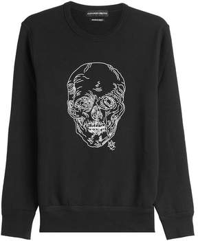 Alexander McQueen Embroidered Cotton Sweatshirt