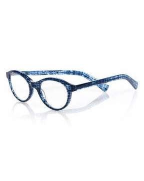 Eyebobs Soft Kitty Rounded Cat-Eye Readers, Blue Pattern