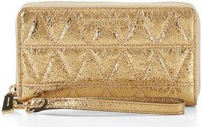 MICHAEL Michael Kors Metallic Large Multifunction Wristlet - PALE GOLD - STYLE