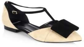 Pierre Hardy Obi Suede Ballet Flats