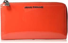 Armani Exchange A X Round Zip Patent Wallet