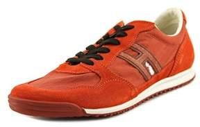 Hogan Sunkist Round Toe Suede Sneakers.
