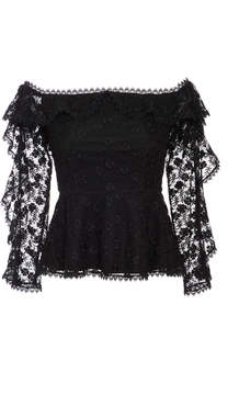 Alexis M'O Exclusive Taisa Ruffle Off The Shoulder Top