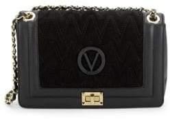 Mario Valentino Alice D Suede & Leather Boxed Shoulder Bag