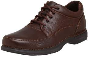 Rockport Mens Encounter Leather Lace Up Casual Oxfords.