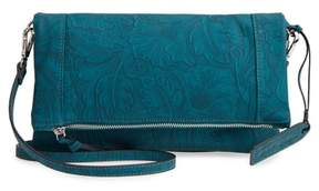 Sole Society Tooled Faux Leather Foldover Clutch