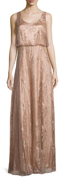 Donna Morgan Natalya Sleeveless Satin Lace Gown