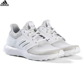 adidas Grey RapidaRun Knit Junior Trainers