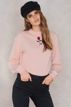 NA-KD Na Kd Chest Rose Embroidery Sweater