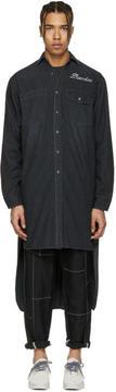 Miharayasuhiro Black Denim Extra Long Shirt