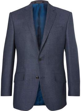 Richard James Blue Hyde Slim-Fit Wool-Hopsack Blazer
