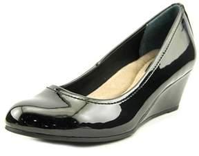 Giani Bernini Jileen Women Open Toe Synthetic Black Wedge Heel.