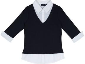 Chaps Girls 4-16 School Uniform 3/4-Sleeve Layered Top