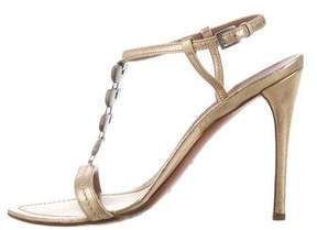 Alaia Metallic Embellished Sandals