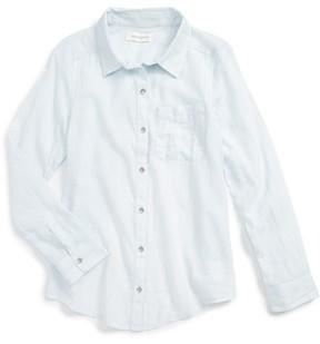 Treasure & Bond Girl's Cross Back Flyaway Woven Shirt