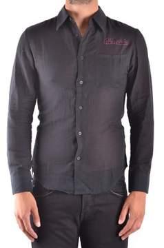 Frankie Morello Men's Black Cotton Shirt.