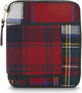 Comme des Garcons Tartan wool zip wallet