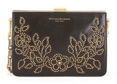Donna Karan Studded Leather Convertible Clutch