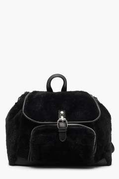 boohoo Faux Fur Backpack