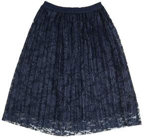 Miss Blumarine Long Pleated Stretch Tulle Skirt