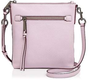 Marc Jacobs Recruit North/South Leather Crossbody - PALE LILAC/GUNMETAL - STYLE