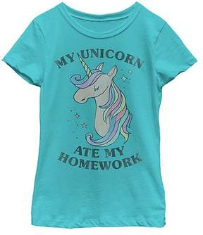 Fifth Sun Tahiti Blue 'My Unicorn Ate My Homework' Tee - Girls
