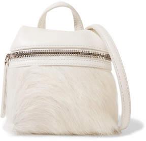 KARA - Micro Textured-leather And Calf Hair Shoulder Bag - Off-white