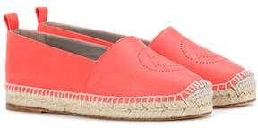 Anya Hindmarch Smiley leather espadrilles