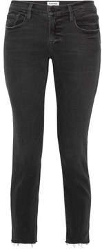 Frame Le Garcon Mid-rise Slim Boyfriend Jeans - Dark gray