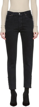 Levi's Olivier Theyskens Black Re/Done Levis Edition Tenim High-Rise Ankle Crop Jeans