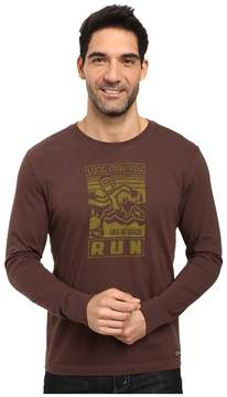 Life is Good Long May You Run Long Sleeve Crusher Tee Men's Long Sleeve Pullover