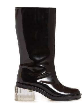 Simone Rocha Perspex-heel leather boots