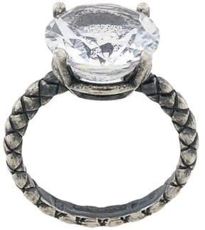 Bottega Veneta intrecciato gemstone ring