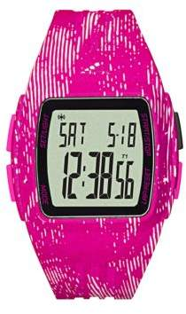 adidas Graphic-Print Polyurthane LCD Sports Watch