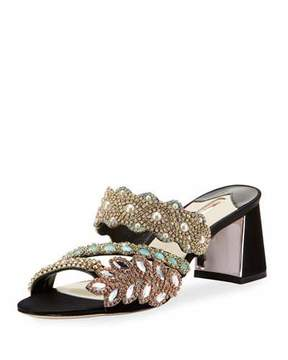 Sophia Webster Eden Crystal-Embellished Mule Sandal