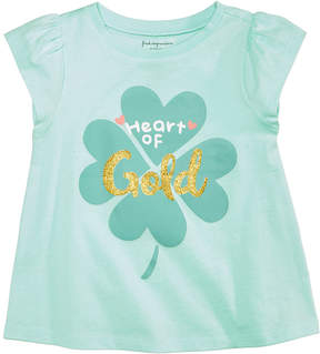 First Impressions Heart of Gold Cotton T-Shirt, Baby Girls, Created for Macy's