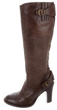 Belstaff Leather Mid-Calf Boots